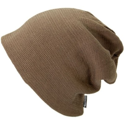 大きいサイズ 帽子 L XL メンズ ニット帽子 リバーシブル  ブラウン ベージュ  ニットキャップ  BIGWATCH 正規品/ビッグワッチ UVケア