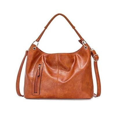 JOSEKO Leather Purses and Handbags for Women, Satchel Tote Shoulder Bag Hobo Large Crossbody Bags Brown【並行輸入品】