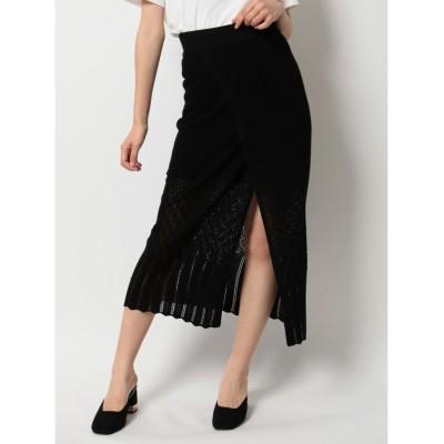 dazzlin クロシェレディライクタイトスカート(ブラック)