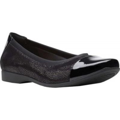 クラークス Clarks レディース スリッポン・フラット バレエシューズ ハンチング シューズ・靴 Un Darcey Cap 2 Ballet Flat Black Nubuc