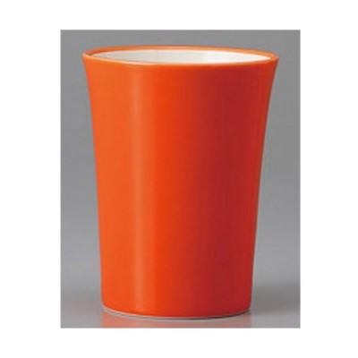 11/2までSALE価格!和食器  美濃焼 酒器(食前酒・ミニカップ) オレンジ塗りわけタンブラー 7.0cm 180cc