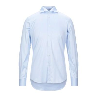STEFANO VALLE シャツ アジュールブルー 37 コットン 100% シャツ