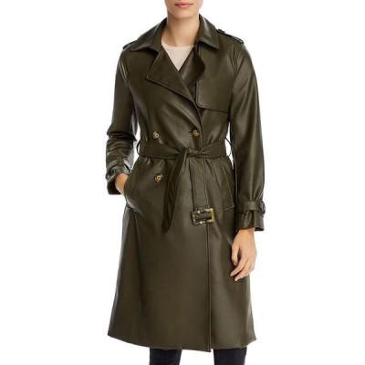 アパリス レディース ジャケット・ブルゾン アウター Lucia Faux Leather Trench Coat