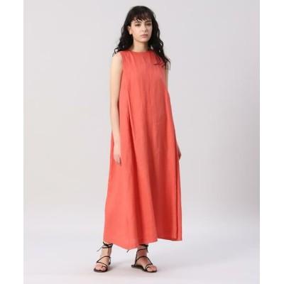 INED/イネド リネンマキシワンピース オレンジ1 09