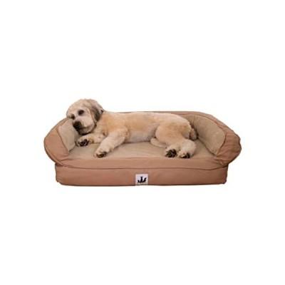 "Mix.Home Personalized EZ Wash Fleece Bolster Tan Dog Bed, 48"" L X 31"" W X 1並行輸入"