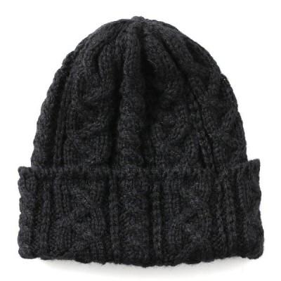 ニット帽 メンズ レディース ブランド ブラック 黒 黒色 英国製 アルパカ素材 手織り ハイランド2000