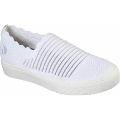 スケッチャーズ レディース スニーカー シューズ Women's Skechers Poppy Breezy Street Slip-on Sneaker White