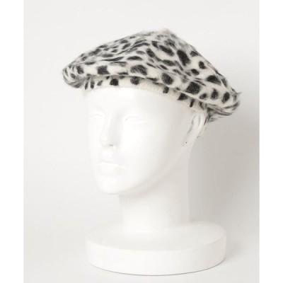 帽子 ふわふわファーベレー帽