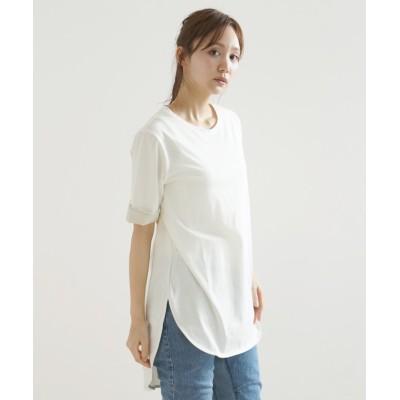 (LASUD/ラシュッド)[soeur7] 異素材使いTシャツ/レディース オフホワイト