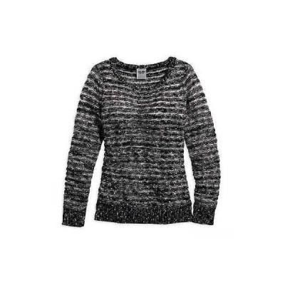 レディース ウェア セーター ハーレーダビッドソン Harley-Davidson Womens Sweater, Sequins Striped Long Sleeve, Black 96312-15VW
