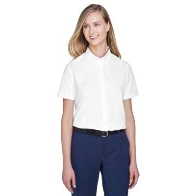 ユニセックス 衣類 トップス The Ash City - Core 365 Ladies' Optimum Short-Sleeve Twill Shirt - WHITE 701 - M グラフィックティー