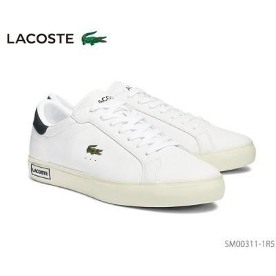 ラコステ LACOSTE POWER COURT 0721 1 スニーカー レザー 正規品 メンズ 靴 ホワイト×グリーン SM00311-1R5