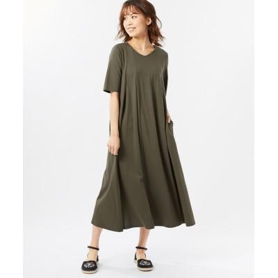【大きいサイズ】 綿100%縦切り替えカットソーワンピース(オトナスマイル) ワンピース, plus size dress