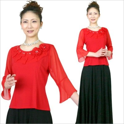 コーラスブラウス コーラス衣装 合唱衣装 舞台衣装 赤