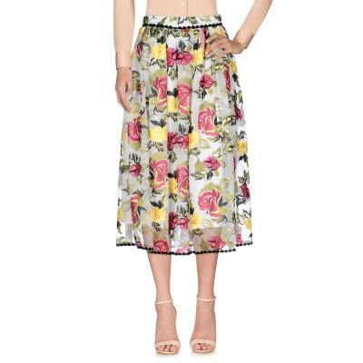 NORA BARTH 7分丈スカート ホワイト 40 ポリエステル 75% / ナイロン 25% 7分丈スカート