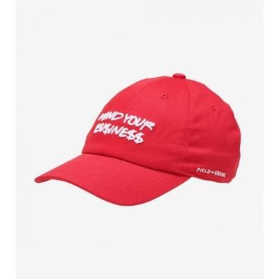 フィールドグレイド Field Grade メンズ 帽子 ダットハット mind your business dad hat RED/WHITE