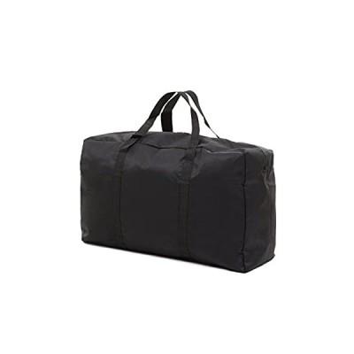 ミウォルナ 大型バッグ 大きいバッグ 収納バッグ 100L キャリーバッグ ボストバッグ アウトドア 引っ越しバッグ 布団収納ケース ブラック