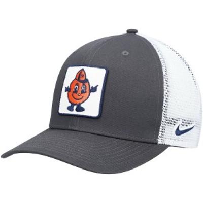 ナイキ メンズ 帽子 アクセサリー Syracuse Orange Nike Classic 99 Alternate Logo Trucker Adjustable Snapback Hat Anthracite