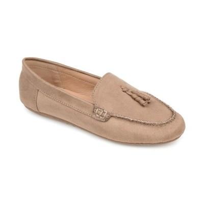 ジャーニーコレクション サンダル シューズ レディース Women's Comfort Foam Meredith Flat Taupe
