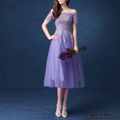 パーティードレス ウェディングドレス ロング ミモレ丈 半袖 レース ドレス 結婚式 二次会 お取り寄せ お取り寄せ