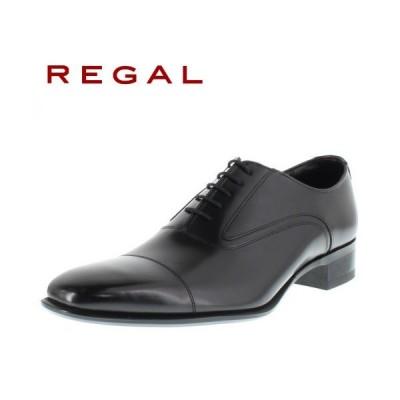 リーガル 靴 REGAL メンズ ビジネスシューズ 725R AL ブラック ストレートチップ 内羽根式 紳士靴 日本製 2E 本革