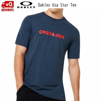 オークリー USAスター Tシャツ ネイビー OAKLEY Usa Star Tee Foggy Blue [457879-6FB]