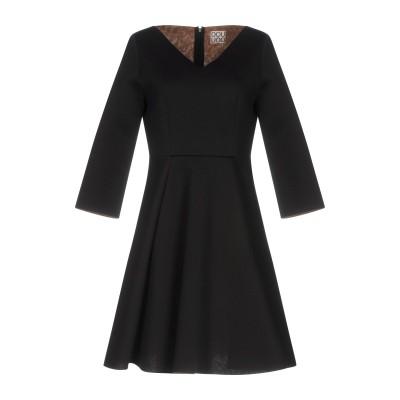 DOUUOD ミニワンピース&ドレス ブラック 42 レーヨン 100% ミニワンピース&ドレス