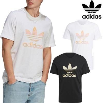 アディダス オリジナルス adidas Originals カモ トレフォイル 半袖 Tシャツ 迷彩 シンプル 柄物 定番 ロゴ メンズ レディース ユニセックス