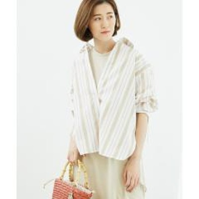 ROPE' PICNIC(ロペピクニック)ロールアップチュニックシャツ【お取り寄せ商品】