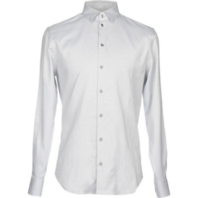 アルマーニ EMPORIO ARMANI メンズ シャツ トップス solid color shirt Light grey