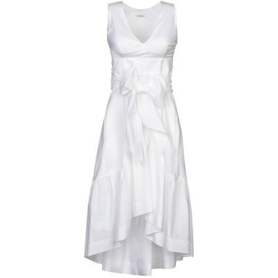 パロッシュ P.A.R.O.S.H. ミニワンピース&ドレス ホワイト M コットン 100% ミニワンピース&ドレス