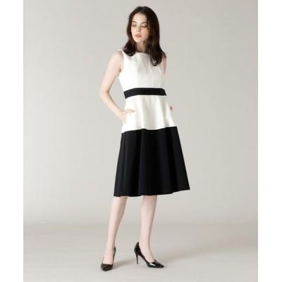 ef-de/エフデ 《M Maglie le cassetto》カラーブロッキングドレス ホワイト 11