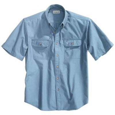 カーハート メンズ シャツ トップス Carhartt Men's Fort Solid SS Shirt Denim Blue Chambray