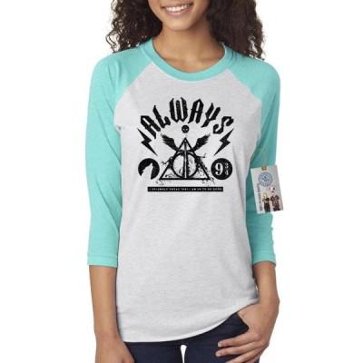 レディース 衣類 トップス Harry Potter Saying Symbols Womens Raglan Shirt Top Tシャツ