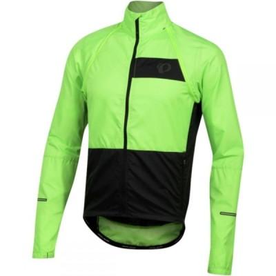パールイズミ PEARL iZUMi メンズ 自転車 ジャケット アウター ELITE Escape Barrier Convertible Jacket Screaming Green/Black