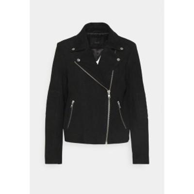 ヤス レディース ジャケット&ブルゾン アウター YASMOUSSE JACKET - Leather jacket - black black