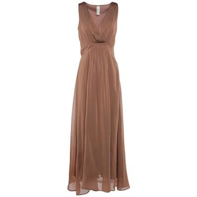 スーベニア SOUVENIR ロングワンピース&ドレス キャメル XS ポリエステル 100% ロングワンピース&ドレス