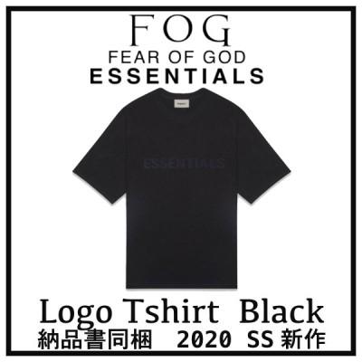 2020 FOG FEAR OF GOD ESSENTIALS フォグ フィアオブゴッド エッセンシャル フロントロゴ Tシャツ ブラック 黒 選べるサイズ 新品未使用 最新 人気 稀少
