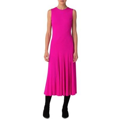 アクリス プント レディース ワンピース トップス Sleeveless Flounced Jersey Maxi Dress