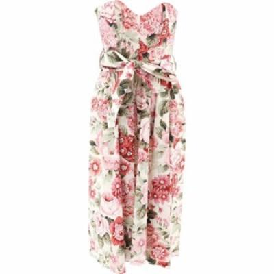 パロッシュ P.A.R.O.S.H. レディース ワンピース ワンピース・ドレス Floral Dress With Corset Pink