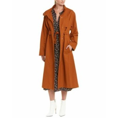 ファッション 衣類 Isabel Marant Belted Long Coat 36 Orange