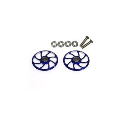 【送料全国一律270円】イーグル(EAGLE)/MINI4-RW004-BL/超軽量19mmラウンド8スポークローラーホイルV2:ミニ4用(ブルー)