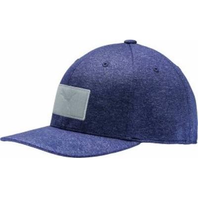 プーマ メンズ 帽子 アクセサリー PUMA Men's Utility Patch 110 Snapback Golf Hat Peacoat