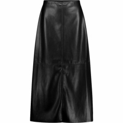 ナヌシュカ Nanushka レディース ひざ丈スカート スカート Zayra faux leather midi skirt Black