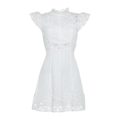 SANDRO ミニワンピース&ドレス ホワイト 38 ポリエステル 100% ミニワンピース&ドレス