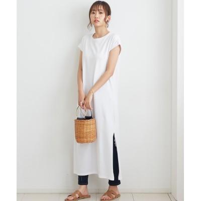 フレンチスリーブロングワンピース (ワンピース)Dress