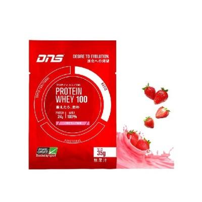 DNS プロテインホエイ100 いちごミルク 35g×10袋 化粧箱なし ポスト投函 ◆