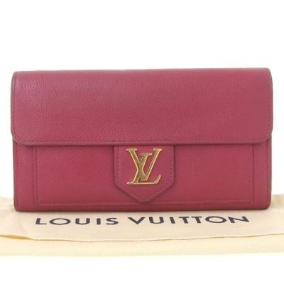 ルイ ヴィトン LOUIS VUITTON ポルトフォイユ ロックミー ホック付長財布 レザー ピンク M61277 布袋付 本物保証