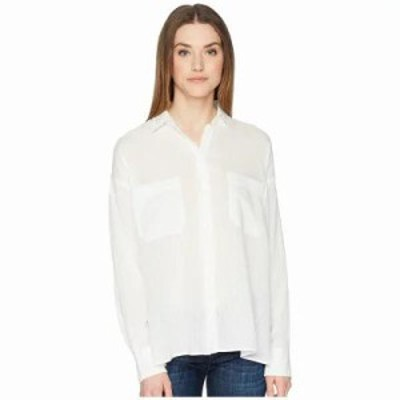 ヴィンス ブラウス・シャツ Textured Double Pocket Blouse Off-White