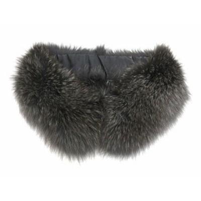 【中古】エムプルミエ ブラック M-Premier BLACK リアルファー ティペット 毛皮 黒系 ブラック系 レディース